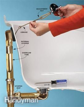 Unclogging tub drains—the levered stopper type (and how to fix tubs that aren't holding water by readjusting the linkage)