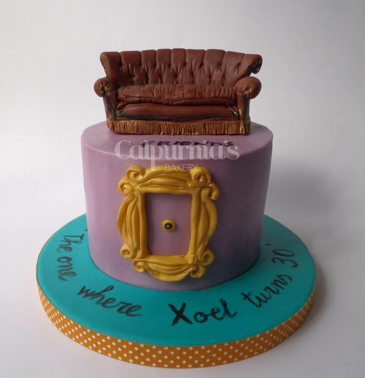 Friends tv cake fondant