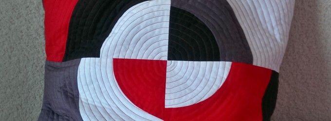 Poťah na vankúš s kruhovým vzorom
