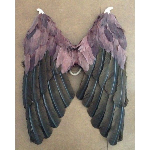 Victoria's Secret Angel Wings Costume Wings ❤ liked on Polyvore featuring costumes, wing costume, victoria's secret, victoria secret costume, angel wing costume and black halloween costumes