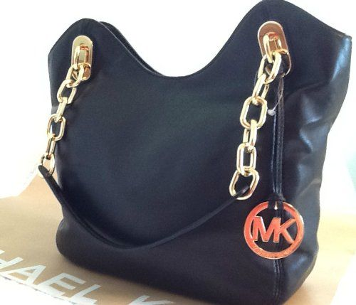 Michael Kors Lilly MD Tote Black Soft Leather Michael Kors,http://www