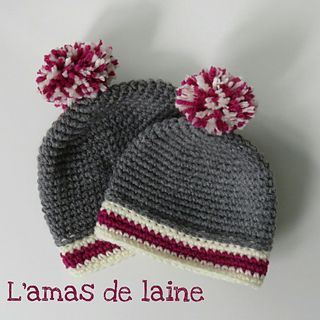 CROCHET PATTERN Cozy baby hat - These baby hats are adorable in the Sock Monkey colours, but you can make them in any colour combo you like!