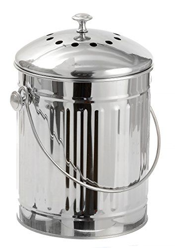 sagler compost bin 1 gallon stainless steel