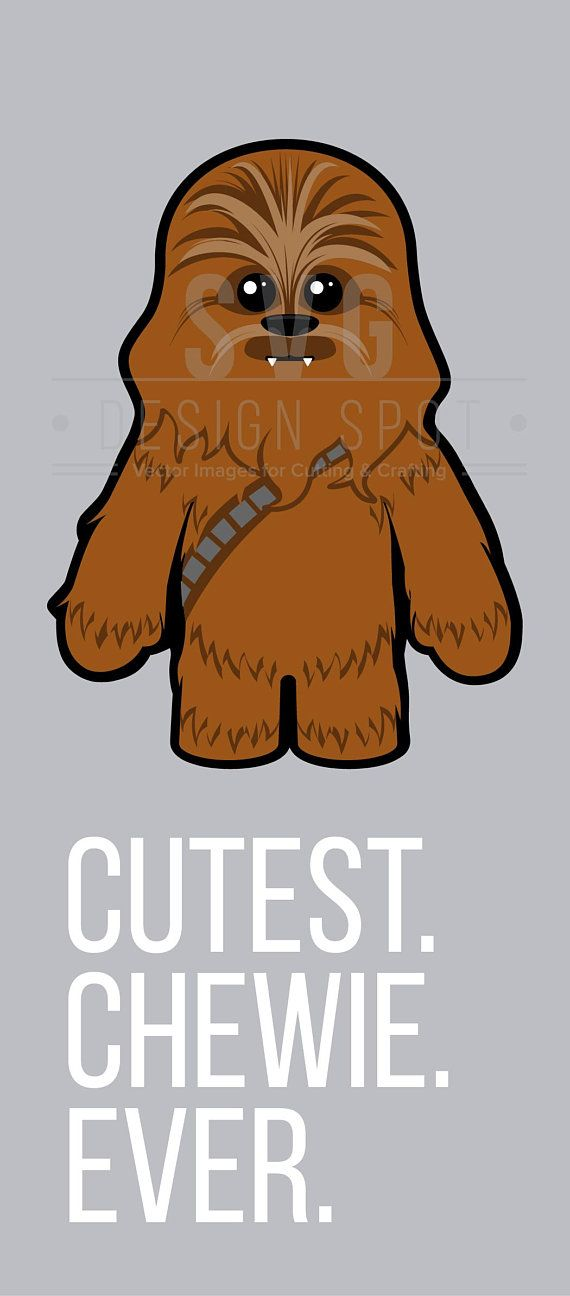 Star Wars Baby Chewbacca SVG Cute Chewie Wall Art Vector