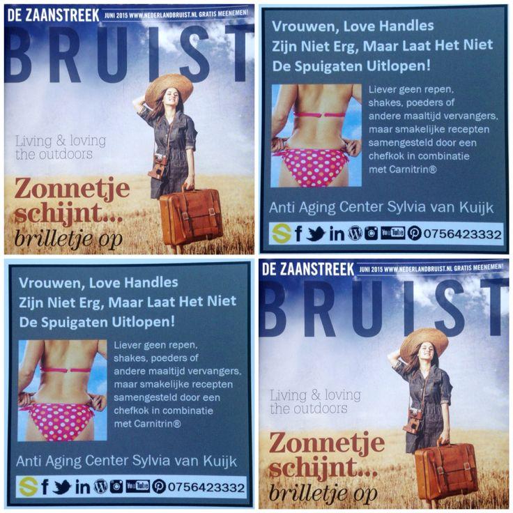 Vrouwen, Love Handles Zijn Niet Erg, Maar Laat Het Niet De Spuigaten Uitlopen!  Wil je in je bikini op vakantie en ben je nog niet helemaal slank, begin met een kuur Carnitrin®. 8 tot 10% van je overgewicht kwijt in 24 dagen.   De Zaanstreek Bruist ligt weer voor jullie klaar ;)   T. 075 642 3332 E. info@sylviavankuijk.nl W. www.sylviavankuijk.nl