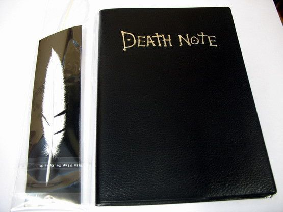 I HAVE THIS!!!! My aunt bought me the book and quill for Christmas. She didn't know what it was used for killing people.. XD heeheeeheee. |Death note|