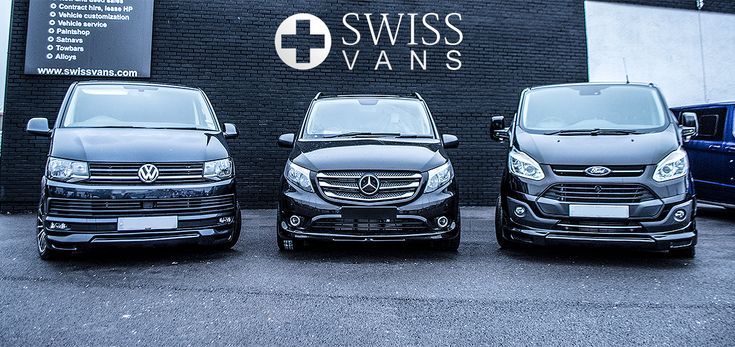 Three in a row VW Transporter Kombi WASP | Mercedes Benz Vito WASP | Ford Transit Custom WASP - from Swiss Vans