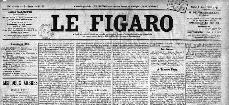 Figaro's article - April 1913