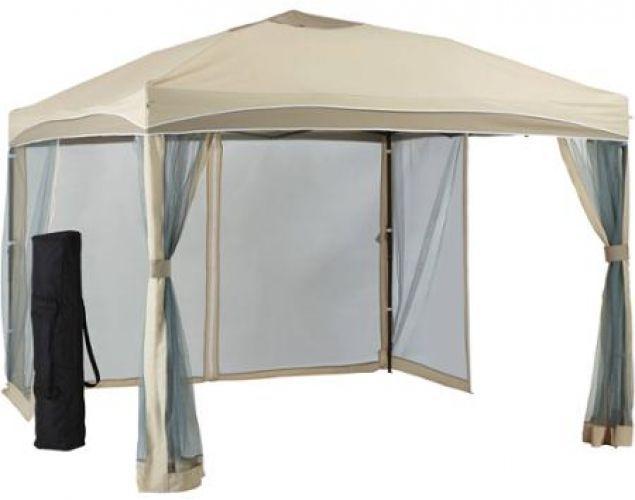 10x10 Outdoor Gazebo Pergola Canopy Screen Tent Steel Netting Patio Carry  Bag