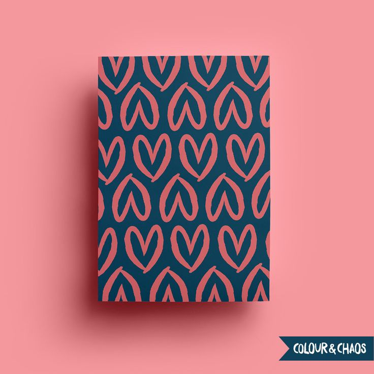 I Heart You A5 Print (Coral/Navy)