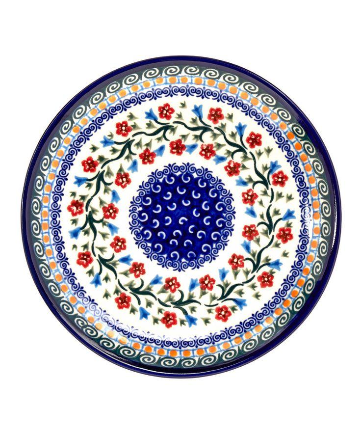 Floral Dessert Plate by Lidia's Polish Pottery #zulily #zulilyfinds