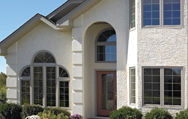 Beautiful textured stucco on this home exterior remodel!