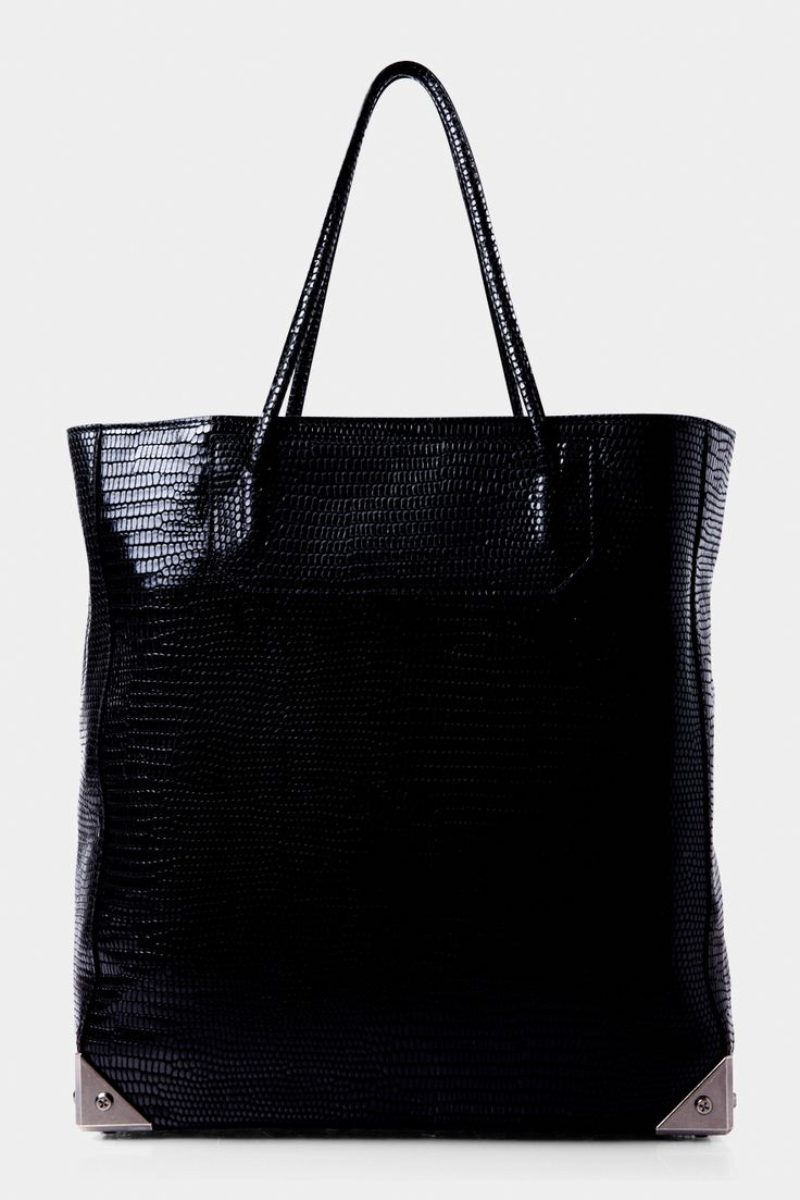 Prisma Tote Black Embossed - BLACK | ALEXANDER WANG | Green with Envy - every day I come closer and closer to purchasing this, my excuse? So much room for uni things....