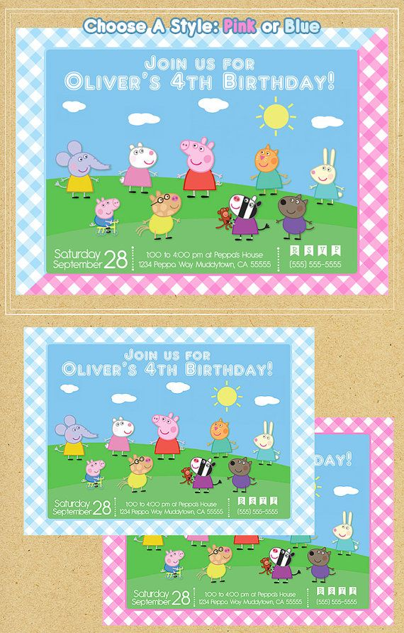 22 best Peppa Pig Party Printables images on Pinterest ...