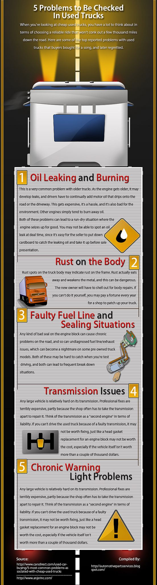 5 Problems to Be Checked In Used Trucks [Infographic]