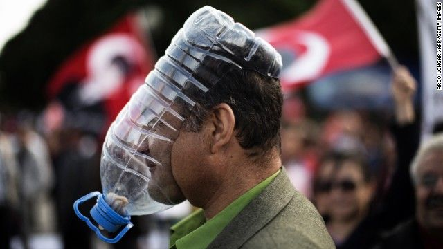 Another impromptu gas mask. This time from Istanbul.