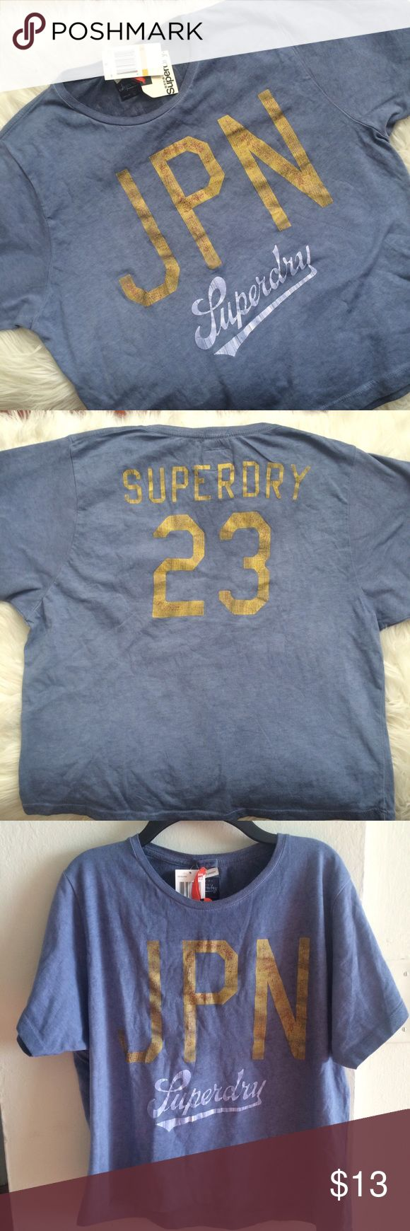 Superdry Boxy Tee Faded texture, boxy t-shirt shape. Never worn, with tags! Superdry Tops Tees - Short Sleeve