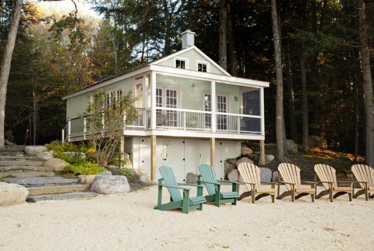 Amazing vintage wooden house on the beach with retro style interior.