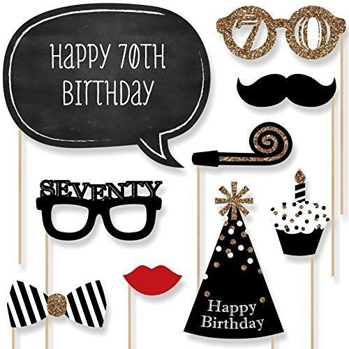 Adult 70th Birthday - Gold - Photo Booth Props Kit - 20 Count Big Dot of Happiness http://www.amazon.com/dp/B00T810Z9I/ref=cm_sw_r_pi_dp_B0MXwb11JRY10