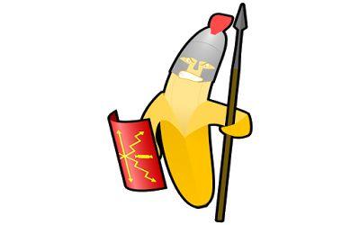 clipart gambar kartun prajurit pisang
