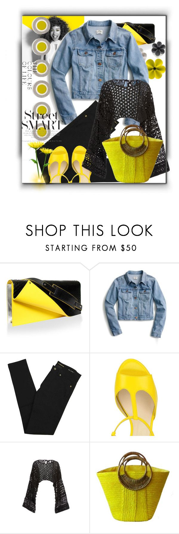 """Los colores de la vida"" by silviaracchi ❤ liked on Polyvore featuring Paul Mitchell, J.Crew, Yves Saint Laurent and Rosetta Getty"