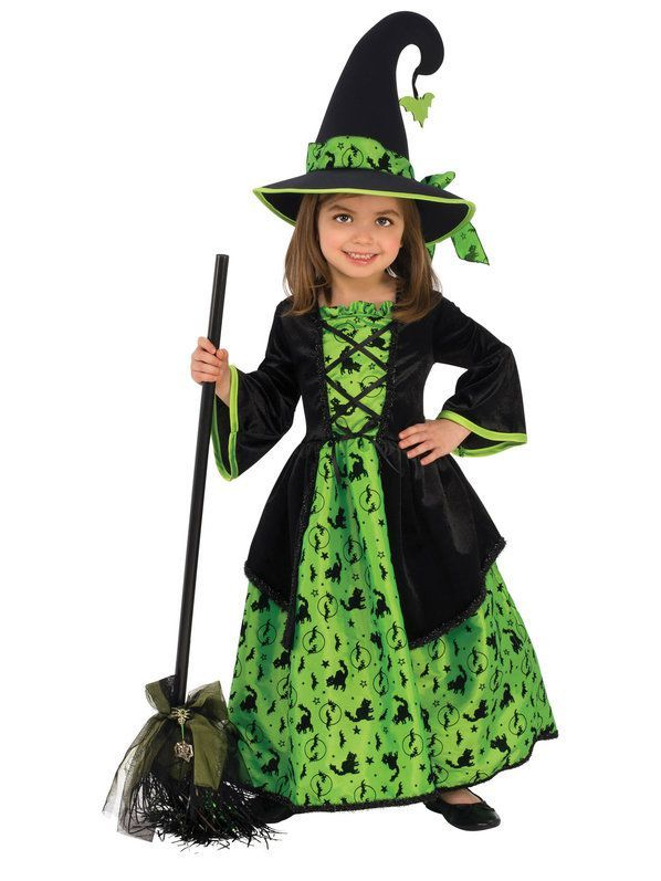 Green Witch Costume For Girls Girl Witch Costume Witch