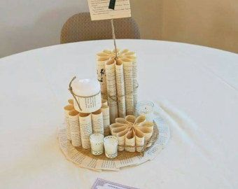 Harry Potter Wedding Centerpiece Book Page By Harrypottercupcake