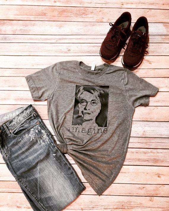 IMAGINE  Hillary Clinton Shirt  John Lennon Imagine  by IndyRoseCo