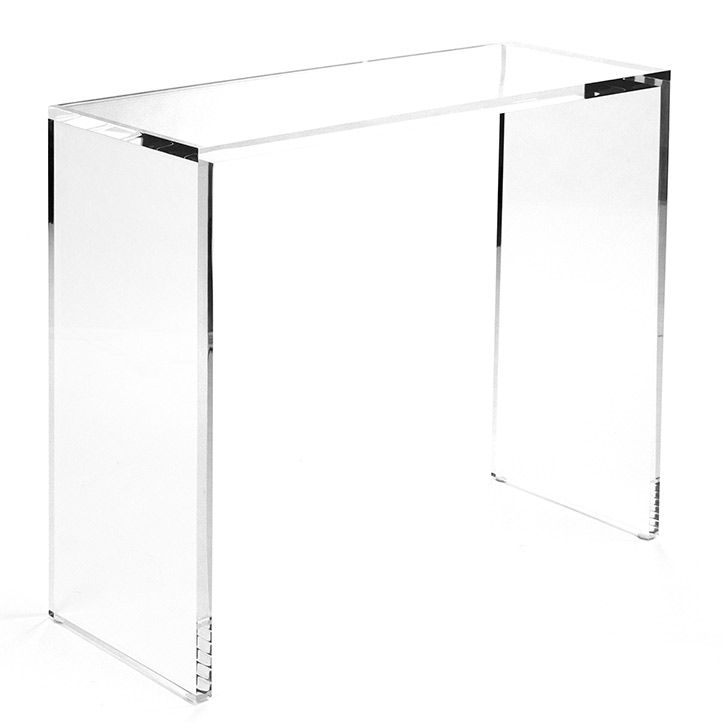 Comes in a smaller size too- Zentique Furniture Cleon Acrylic Large Console Table @Layla Grayce