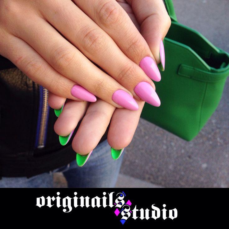 Twilight nails Maleficenta style