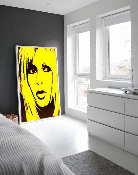 Brigitte BARDOT Canvas Print Stretched Ready To Hang Large Print Modern Print Canvas Art Wall Art Decor by Kathleen Artist