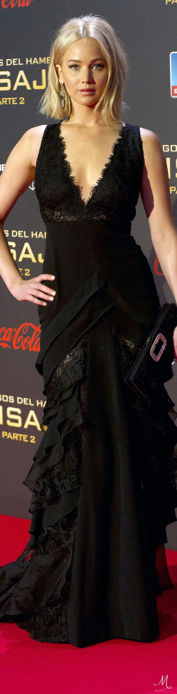 I still think she's beautiful!!  Jennifer Lawrence In Ralph Lauren at the Madrid premiere of 'Mockingjay Part 2'