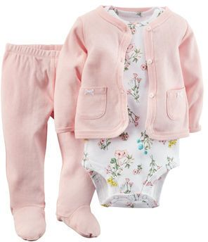 Maya lived in these for her first few months-my fave baby pants for sure! 3-Piece Cardigan Set