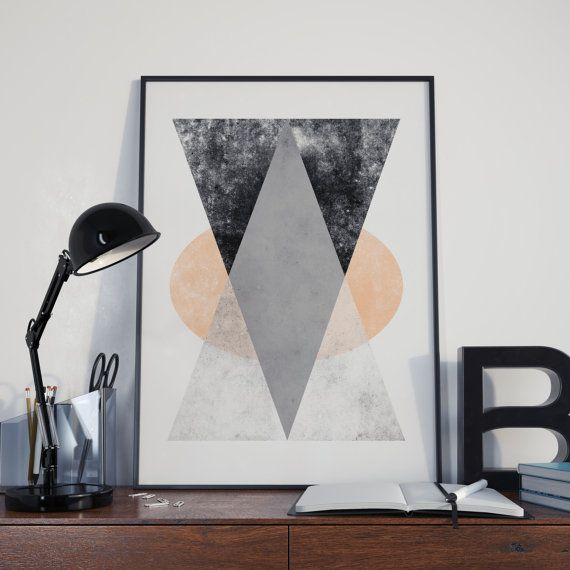 Minimalist Art Printable Art Triangle Print di DamaDigitalDesign