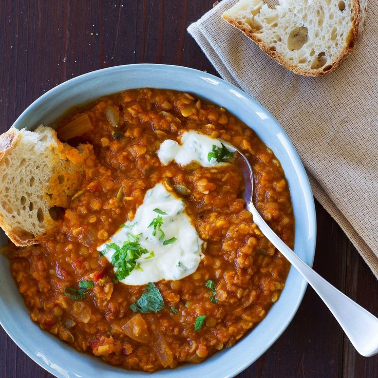 Butternut and Red Lentil Soup with Mint Yoghurt By Nadia Lim