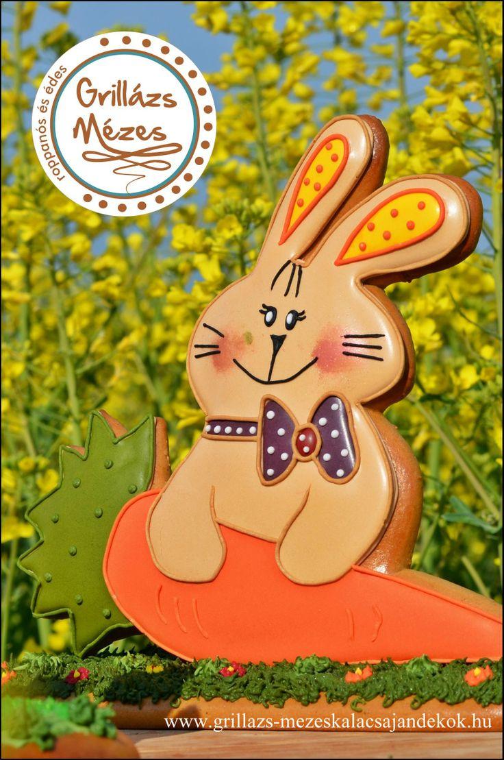 Sárgarépás húsvéti mézeskalácsnyuszi