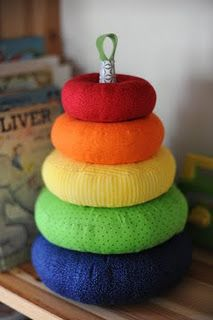 DIY ring stacker...so cute!! I need to learn how to sew a pattern...
