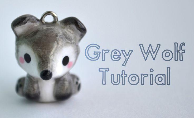 Kawaii Grey Wolf Polymer Clay Tutorial