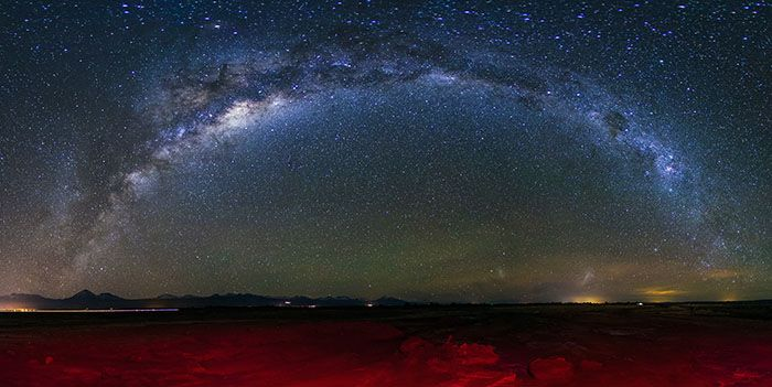 Milky Way arch, San Pedro de Atacama, Chile, 2013. Image by Adhemar Duro / Photostock / Getty