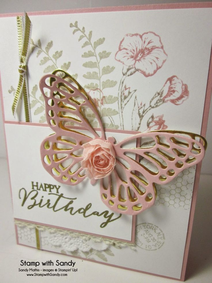 Stamp With Sandy: Butterfly Basics Stamp Set and Buttterflies Thinlits dies, Stampin' Up
