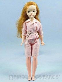 Brinquedos antigos - Estrela - Boneca Susi 100% original Olhos Pintados Perfeito estado Primeira Série Roupa cor de rosa Faltam os sapatos e a Raquete de Tênis Ano 1966