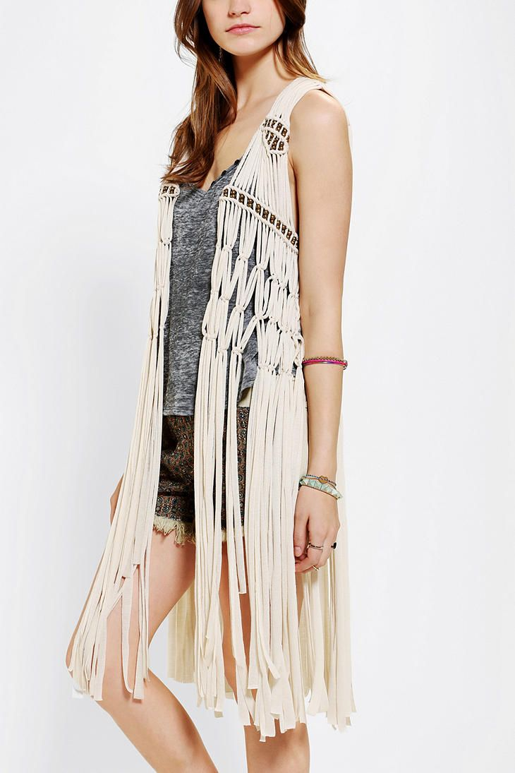 Staring At Stars Macrame Beaded Vest