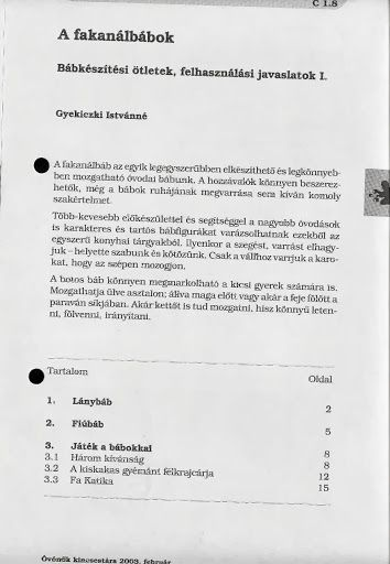 C1-8 - Fakanálbábok - Angela Lakatos - Picasa Webalbumok