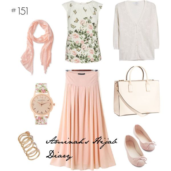 Aminah´s Hijab Diary #hijab #muslimah #modest #fashion #style #look #outfit #ootd #summer #pink #flowers #white #sweet #skirt