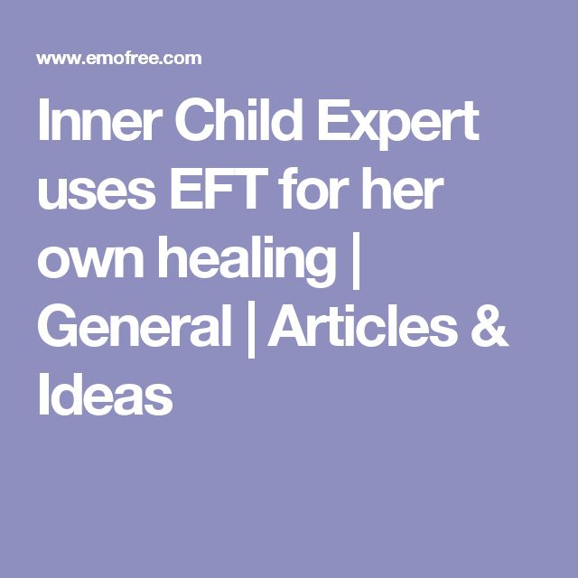 Inner Child Expert uses EFT for her own healing | General | Articles & Ideas