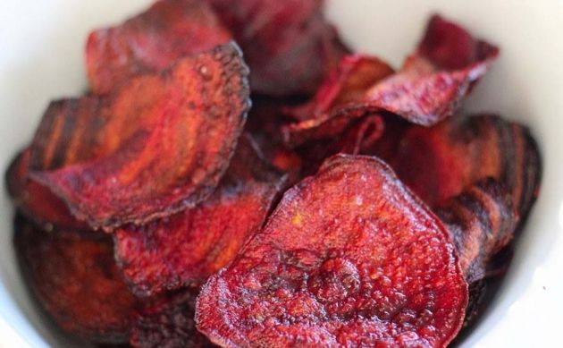 Skinny Points Recipes  » Crispy Baked Beet Chips – 1 SmartPoints