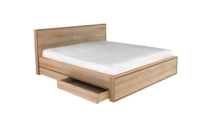 Oak Nordic II beds with drawers - Solid Oak Beds - Bed Frames - Bedroom