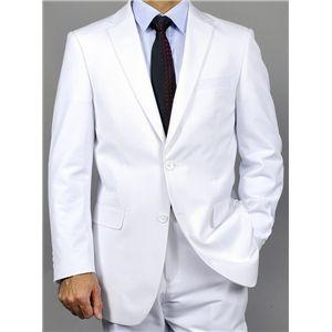 Mens White Suit Two Button Notch Suit