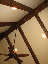 exposed beam ceiling - like at our house!