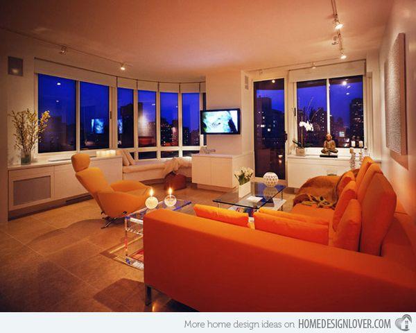 17 Best ideas about Orange Living Rooms – Orange Living Room Walls